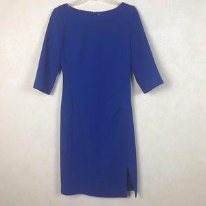 LK Bennett Royal Blue Sheath Dress Size 4